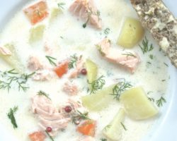 Soupe de saumon finlandaise – version express